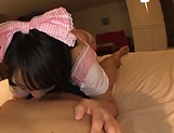 Pretty Asian babe Kaho Shibuya in raunchy POV scene picture 6