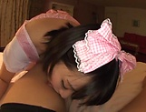 Pretty Asian babe Kaho Shibuya in raunchy POV scene picture 8