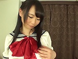 Akane Yoshinaga has her gaping hole penetrated picture 3