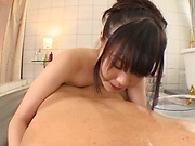 Natsu Kimino, has a hunk dude to pleasure with
