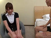 Mika Konishi, enjoys gagging on a tiff chlong