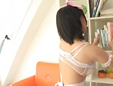 Kaho Shibuya, has her cunt humped doggy-style picture 4