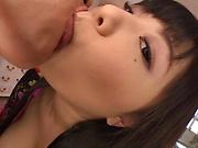 Natsu Kimino puts her big tits to use