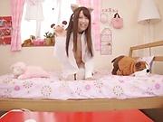 Young Asian broad Yuikawa Chihiro cosplay porn
