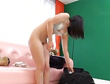 Ai Uehara gives an intimate blowjob before taking load picture 14
