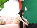 Ai Uehara gives an intimate blowjob before taking load picture 4