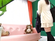 Ai Uehara gives an intimate blowjob before taking load