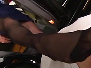 Beautiful Akiho Yoshizawa in raunchy footjob action