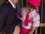 Ravishing cosplay beauty Akiho Yoshizawa gives a kinky head