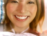Naughty Ai Uehara gets a messy facial picture 2