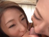 Hardcore gang bang session involving hot Asian matures picture 7
