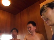 Haruna Hana, enjoys a steamy soaping in the shower