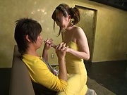 Hot Japanese girls, cock sharing porn experience