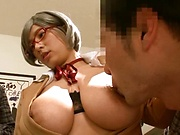 Haruna Hana, pleasures a dick to eruptive delights