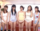 Hardcore gangbang scene involving hot Asian beauties picture 7