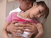 Ayami Shunka amazes with her big tits and tight pussy