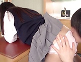 School girl excels in her dick riding skills