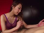 Alluring Asian hottie Matsushima Aoi pleasures a hard pole