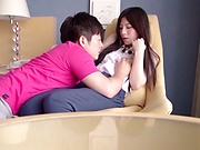 Young Japanese teen fucked hard on cam by horny bf
