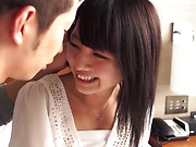 Hot Asian teen shows her prowess in pleasuring of hard poles