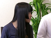 Hot Aoi Ichigo gets her pretty face filled with a creamy load