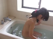 Hot Asian beauty Aoi Ichigo playing with her wet cunt