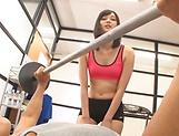 Workout goes kinky for slim Japan doll Mizuho Uehara