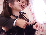 Cute Asian teen Rena Aoi in raunchy blowjob scene picture 12