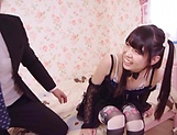 Cute Asian teen Rena Aoi in raunchy blowjob scene picture 9