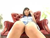Curvaceous babe Riku Minato flaunts her sex holes
