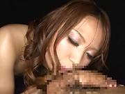 Hardcore model gives a steamy hot blowjob