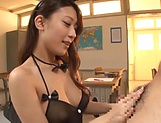 Hot Ria Kashii  loves showing off her sexy lingerie indoors