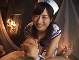 Cute Asian babe Ayaka Yamada in raunchy hand-job scene picture 14