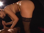 Busty Asian babe Claire Hatsumi in kinky sexual fun