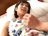 Raunchy seductress Riku Minato engages in a lustful sex picture 13