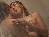Hot oiled up babe Tsubasa Ayana gives hot blowjob