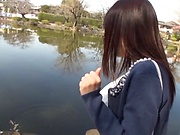 Fujii Arisa loves it when she teases a stud with her huge tits