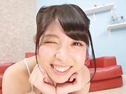Pretty Asian babe Rena Aoi gets banged in a shower