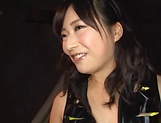 Cute Asian babe Ayaka Yamada in raunchy blowjob action picture 5