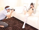 Naughty Asian model Rena Aoi in hardcore threesome action picture 11