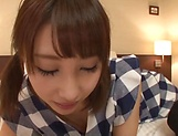 Big tits babe Ayami Shunka gets her gaping cunt drilled picture 14