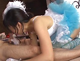 Naughty Asian broad Ayaka Yamada in cosplay porn picture 14