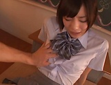 Beautiful Airi Suzumura gets a creamy facial indoors picture 12