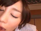 Beautiful Airi Suzumura gets a creamy facial indoors picture 3