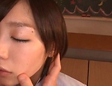 Beautiful Airi Suzumura gets a creamy facial indoors picture 6