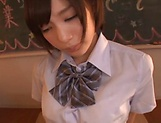 Beautiful Airi Suzumura gets a creamy facial indoors picture 8