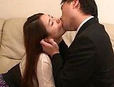 Hot Japanese chick Hagane Koino in action sucking cock picture 11