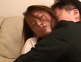 Hot Japanese chick Hagane Koino in action sucking cock picture 14