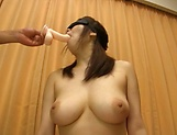 Busty milf plays with cock in naughty manners picture 15