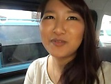 Big titted Asian babe blows and gets banged hard in a car